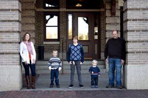Train Station Family Photo