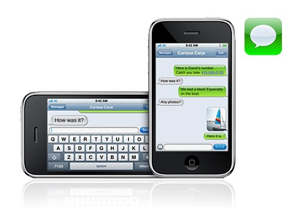 students using iPhone/iPod Touch texting applications will not be able