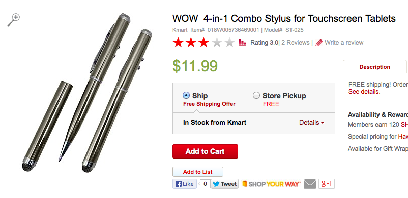 New Stylus The Wow 4 In 1 From Kmart Technology In