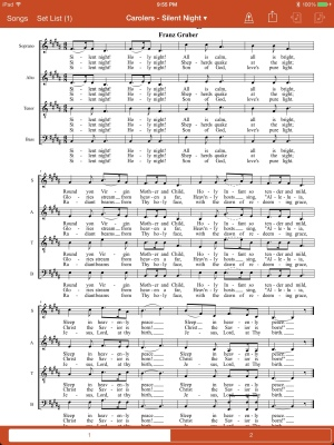 Sheet music application