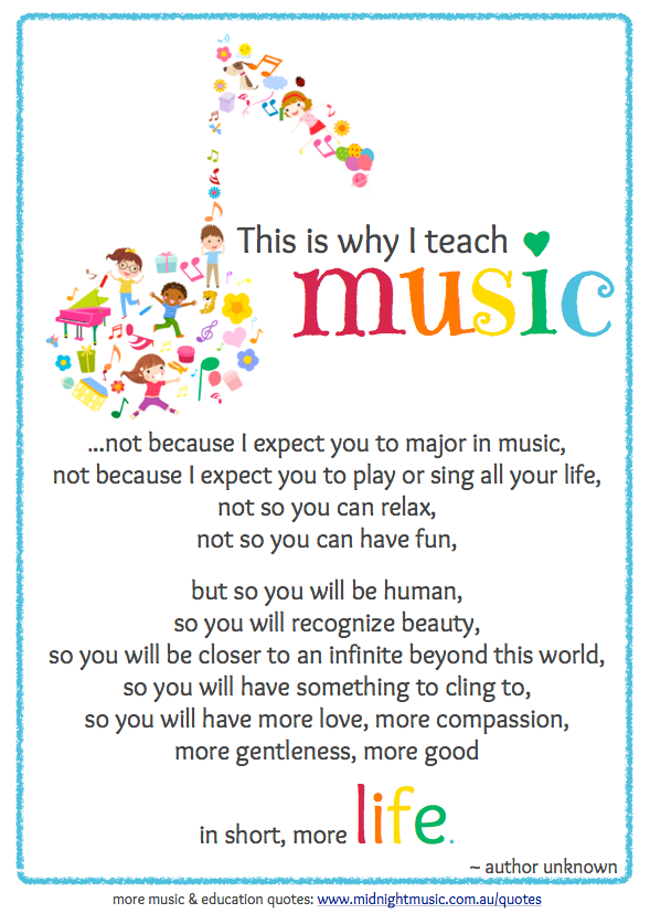 Why I teach music